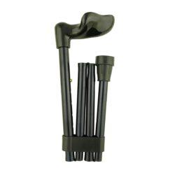 Faltstock Aluminium verstellbar Fischergriff rechts schwarz