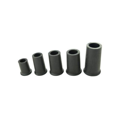 Krückenkapsel mit Stahleinlage schwarz