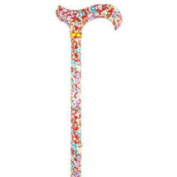 Leichtmetallstock verstellbar Komfortgriff Blumenstrauss