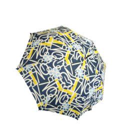 Regenschirm s.Oliver AC Look Expressive blau-senf