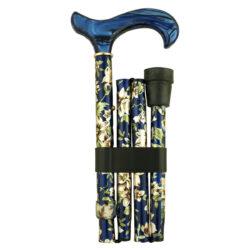Faltstock Leichtmetall verstellbar Derby Acrylat blau Damen Buke