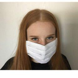 Mund-Nasen-Schutz, Stoffmaske weiß
