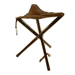 Jagdsitz Kastanie braun gebeizt mit Echtledersitz