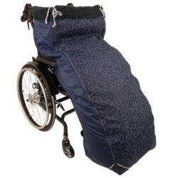 Schlupfsack Rollstuhl marine
